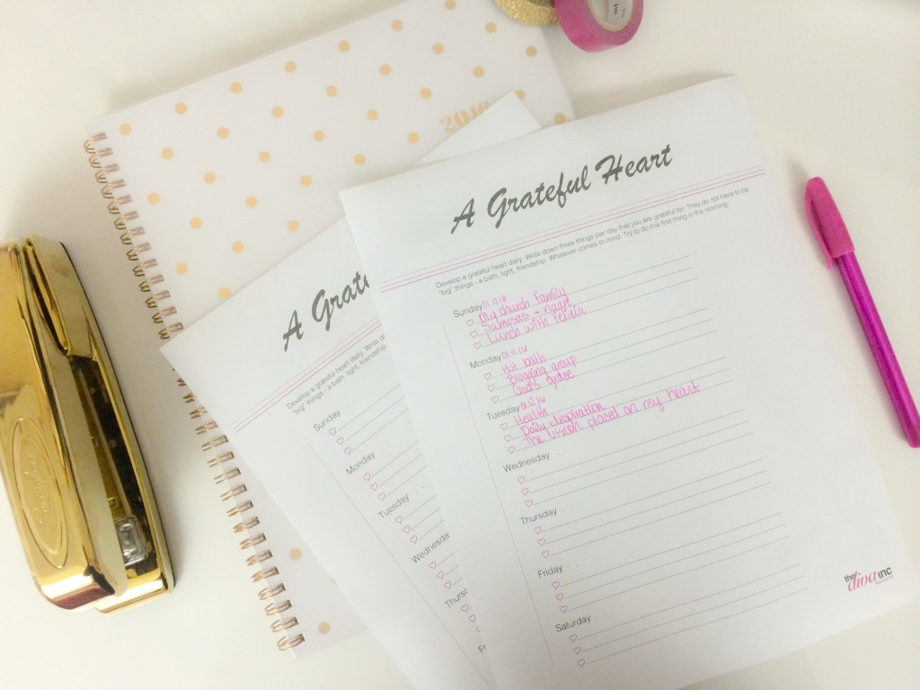 A Grateful Heart Printable - January 2016