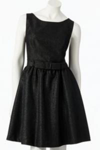 LC Lauren Conrad Lurex Fit & Flare Dress