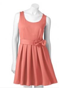 LC Lauren Conrad Pleated Ponte Dress