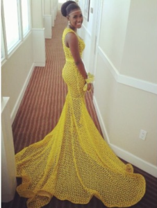 David Rolle Yellow Dress