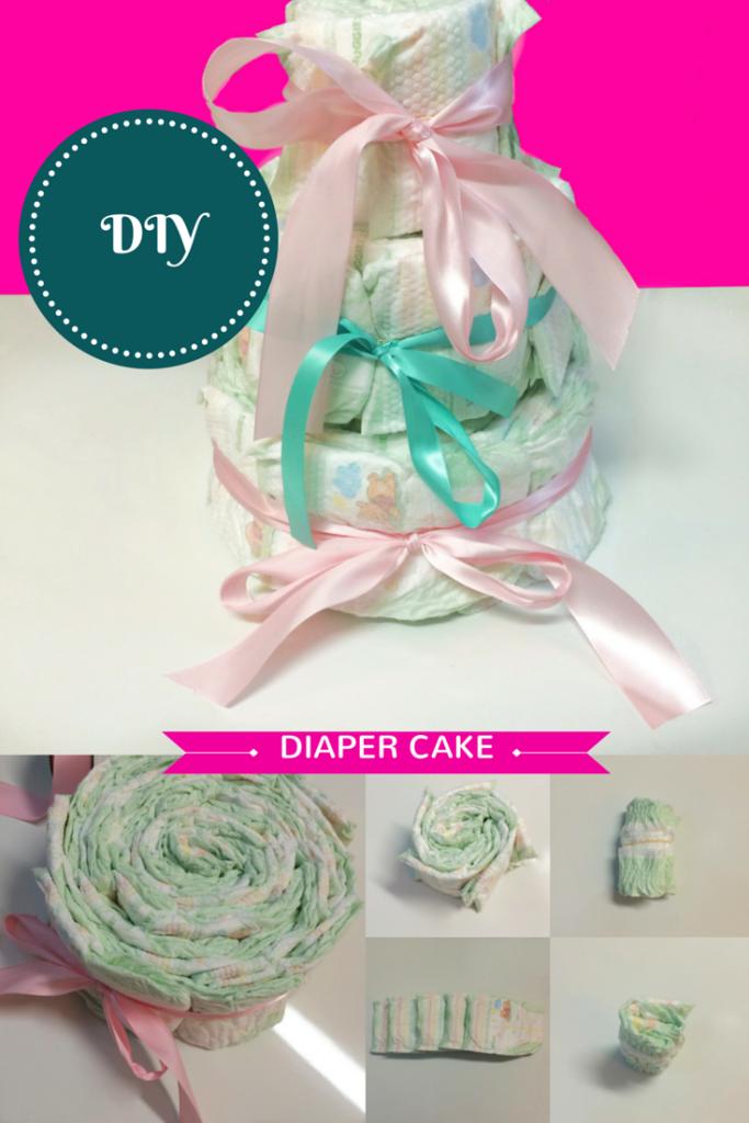 Diaper Cake - Pinterest Pic